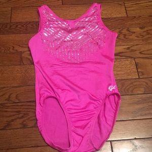 Gk pink gymnastics leotard. Adult small.